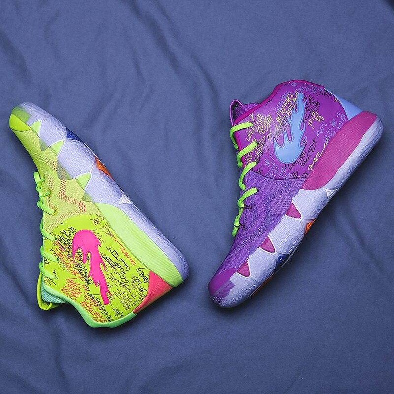 e3a370328fbc Sport Sneakers for Men Basketball Culture Boots High Top Jordan Shoes Men  Kyrie 4 Irving 4th Men s Basketball Shoes Mash Up 44