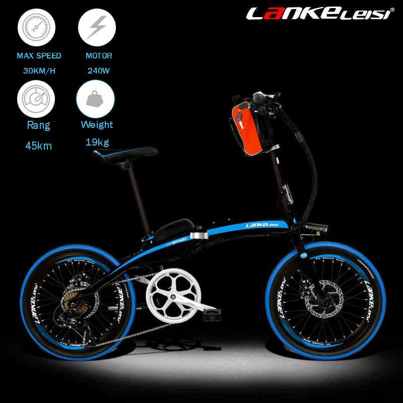 20 inch font b folding b font electric font b bicycle b font 48v lithium battery