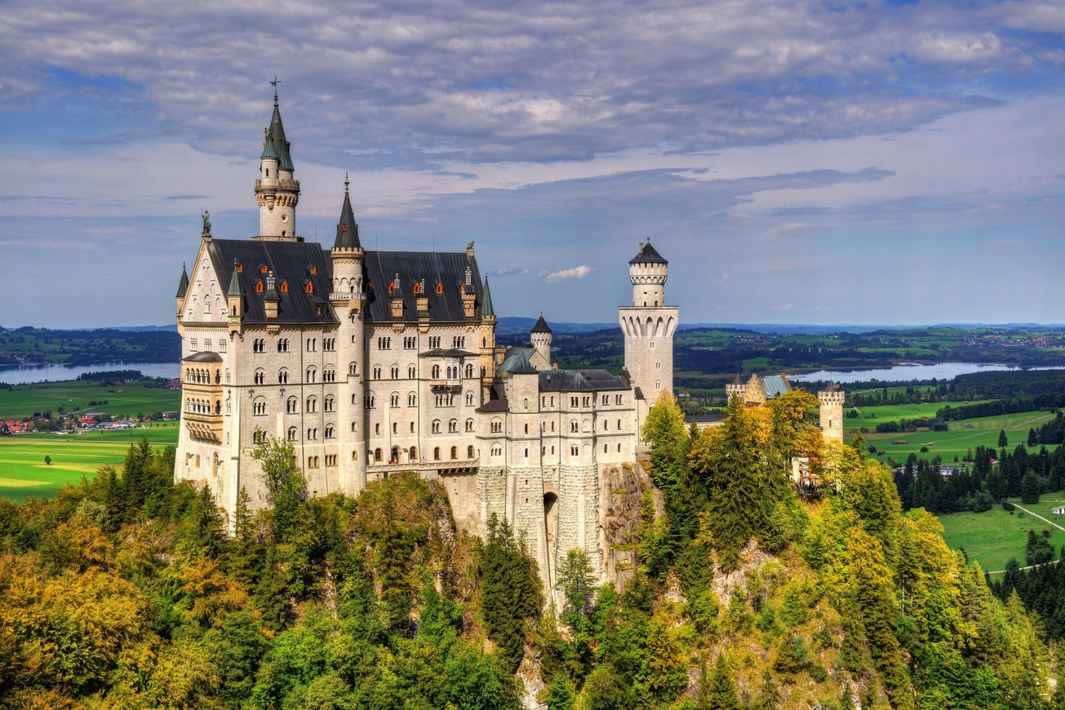 popular neuschwanstein castle painting-buy cheap neuschwanstein