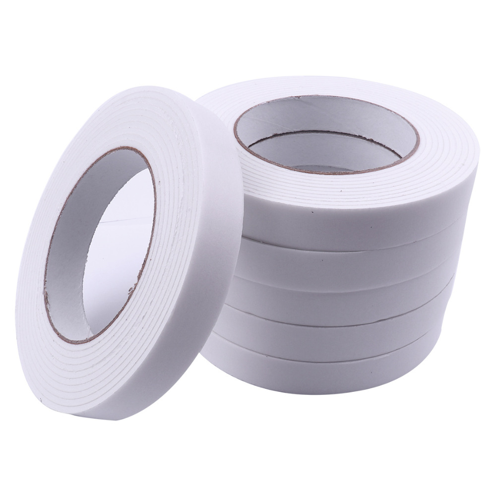 10Pcs/20Pcs High Quality Double Faced Adhesive Tape White Powerful Double Sided 2.9mx18mm Foam Tapes For Mounting Super sticky 3m super strong double faced adhesive tape foam double sided tape self adhesive pad for mounting fixing pad sticky