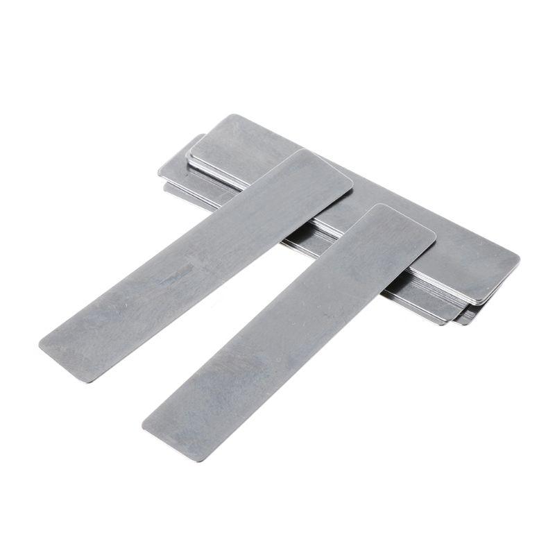 10pcs / Lot for Piston Compressor Valve High Quality Valve Plate 11*57mm Shrapnel Gasket Air Compressor Spare Paper