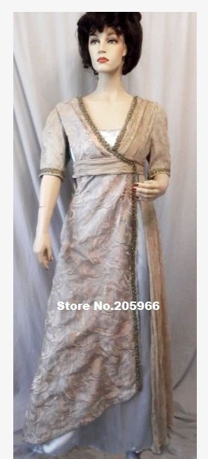 1912 Edwardian Anic Empire Style Dinner Gown Costume Function Dress Party In Dresses From Women S Clothing Accessories On Aliexpress