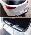 Aço traseira bumper protector inner & outer limiar CX-3 Cover plate Guarnição 2 pcs Para Mazda 2015 2016