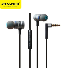 Фотография Awei Wired In Ear Headphones In-Ear Earphones For Phone iPhone Samsung Head Headsets Earpieces Sluchatka Auriculares Kulakl K