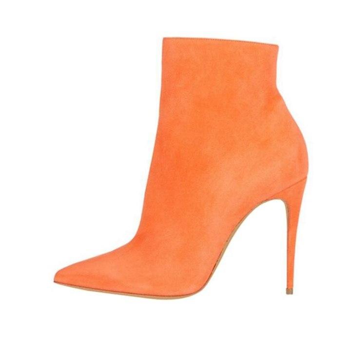 as Taille Cheville Latérale Glissière Grande As Haute Talons Dames Shipping Femmes Automne 42 Picture Chaussures Orange Drop Bottes Suede Bout Pointu Hauts Picture xBoEQerdCW
