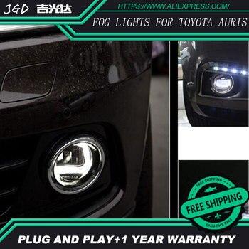 Free Shipping For Toyota Auris 2008-2011 LR2 2006-2014 Car styling front bumper LED fog Lights high brightness fog lamps 1set