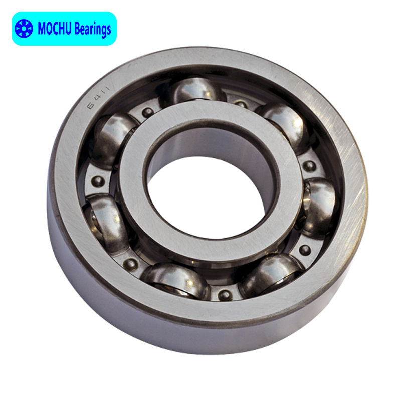 1pcs Bearing 6411 55x140x33 MOCHU Open Deep Groove Ball Bearings Single Row High Quality цена