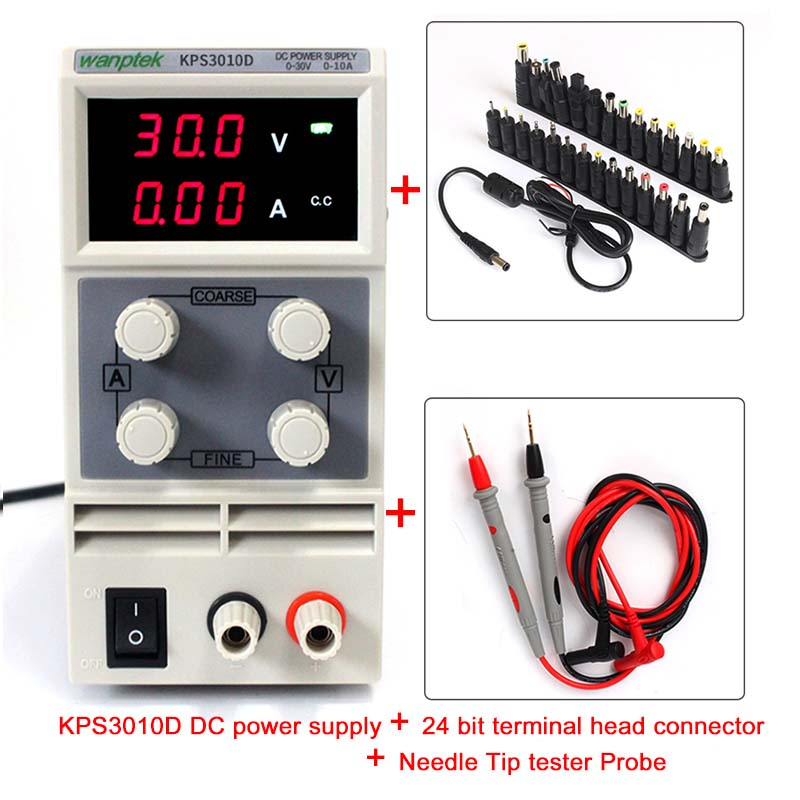 NEW A suit of Highly efficient Temperature control fan low noise Current limiting protection 30V 10A switch DC Power Supply цена