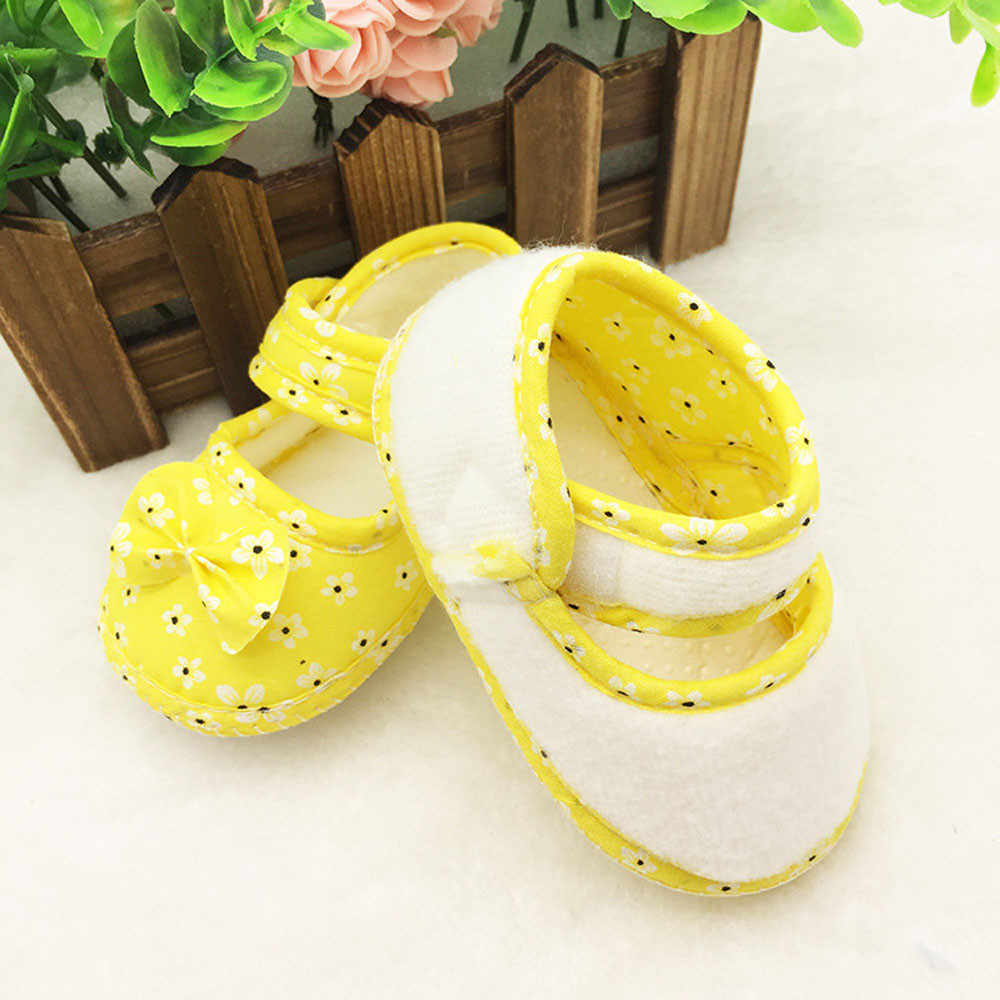 Huang Neeky W#5 Fashion Kids Baby Bowknot Printing Newborn Cloth Shoes Comfortable Summer Hot