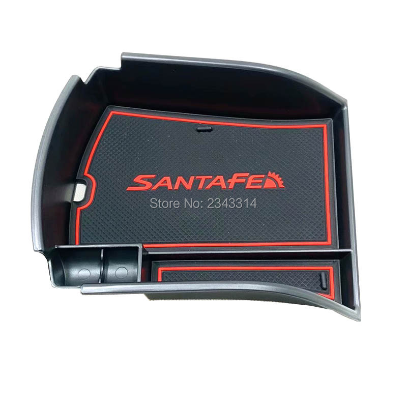 For <font><b>Hyundai</b></font> <font><b>Santa</b></font> <font><b>Fe</b></font> <font><b>2019</b></font> Plastic Central Console Armrest Box Storage Golve Box Interior Stowing Tidying Car Styling Accessories image