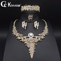 11.11 TOPS Fashion Dubai Gold Plated Jewelry Sets Crystal Classic Necklace ring Nigerian Wedding African Beads Jewelry Sets