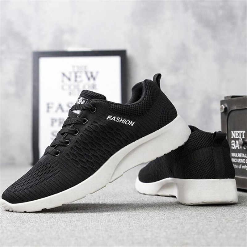 MoneRffi Yeni Örgü Erkekler rahat ayakkabılar Lac-up erkek ayakkabısı Hafif Rahat Nefes Yürüyüş Spor Ayakkabı Tenis Feminino Zapatos