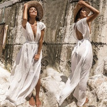 Beach Dress Long Cover up Vestido largo Verano Mujer Bathing suit ups Sarong Robe de Plage Tunic