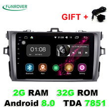 2017 Limited 2g+32gb 8″ 2 Din Car Radio Dvd Gps Player Android 8.0 Indash For Toyota Corolla 2007 2008 2009 2010 2011 1024*600