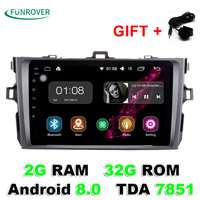 2018 Limited 2g+32gb 8 2 Din Car Radio Dvd Gps Player Android 8.0 Indash For Toyota Corolla 2007 2008 2009 2010 2011 1024*600