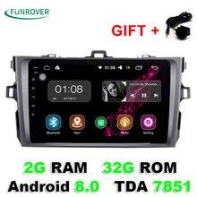 2018 ограниченные 2 г + 32 ГБ 8 «2 Din автомагнитолы Gps dvd-плеер Android 8,0 Indash для toyota Corolla 2007 2008 2009 2010 2011 1024*600