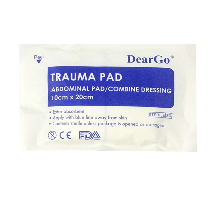 1Pc Medical Pads Haemostatic Cushion Stop Bleeding Non-woven Fabric Absorbent First Aid Kit Emergency Abdominal Pad Combine
