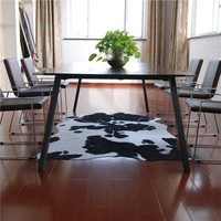 Imitation cowhide carpet Black and white Animal skin grain cow pattern Antiskid rug/carpets for living room bedroom fashion Mat