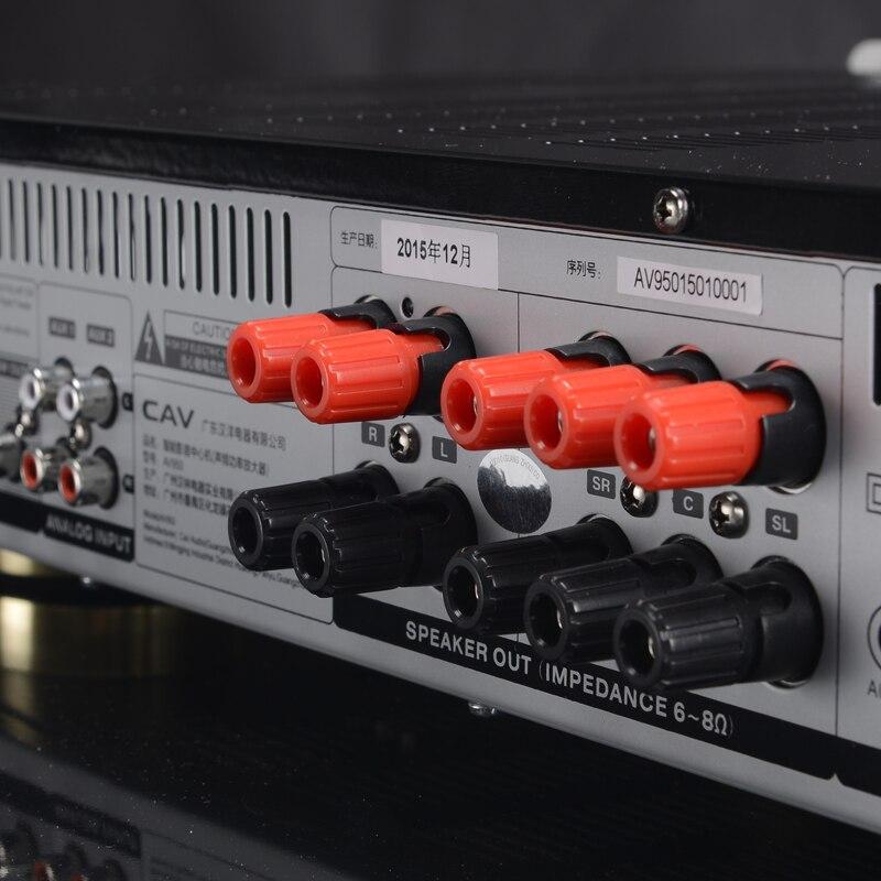 Электрические плиты CAV AV950 аудио усилитель Главная Театр 5,1 DTS усилитель HDMI Bluetooth High Fidelity Мощность для динамики ведущих декодирования (Фото 5)