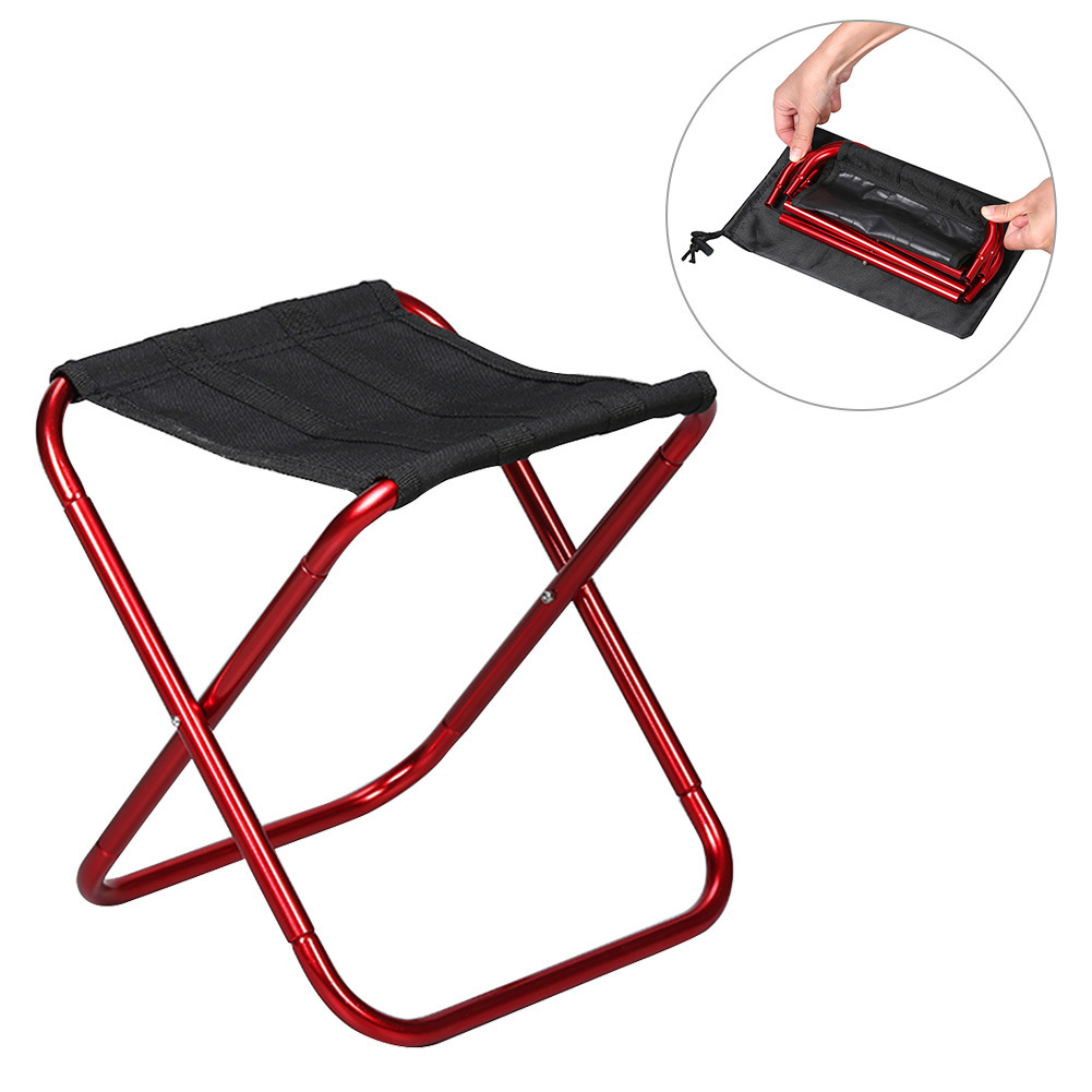 Outdoor Foldable Fishing Chair Ultra Light Portable Folding Backpack Camping Oxford Cloth Picnic Fishing Chair with Bag ...