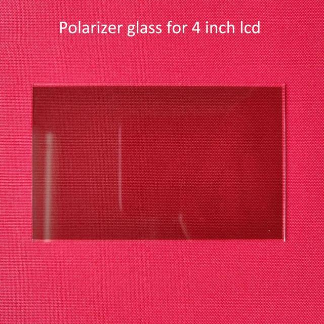 1 pcs termica-isolamento di vetro polarizzatore vetro 96*60*1.2 millimetri per 4 pollici lcd fai da te led proiettore parti di riparazione per Unic UC40 UC46 Rigal