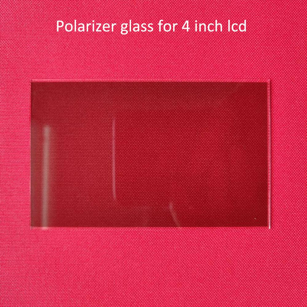 1 pcs thermal-isolating glass polarizer glass 96*60*1.2mm for 4 inch lcd mini led projector repair part for Unic UC40 UC46 Rigal(China)