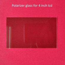1 pcs thermal isolating glass polarizer glass 96*60*1.2mm for 4 inch lcd mini led projector repair part for Unic UC40 UC46 Rigal