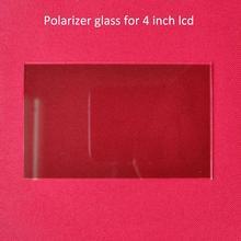 1 sztuk szkło termoizolacyjne szkło polaryzacyjne 96*60*1.2mm dla 4 cal lcd mini projektor led część naprawcza dla Unic UC40 UC46 Rigal