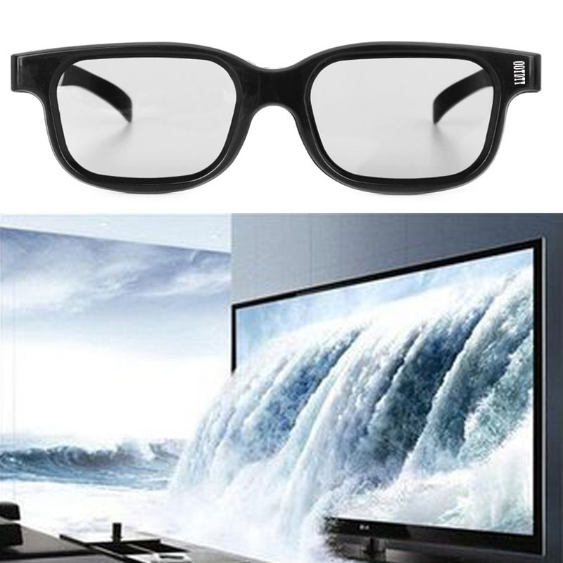 Hot Circular Polarized Passive 3D Stereo Glasses Black For 3D TV Real D IMAX Cinemas #4XFC#Drop Shipping