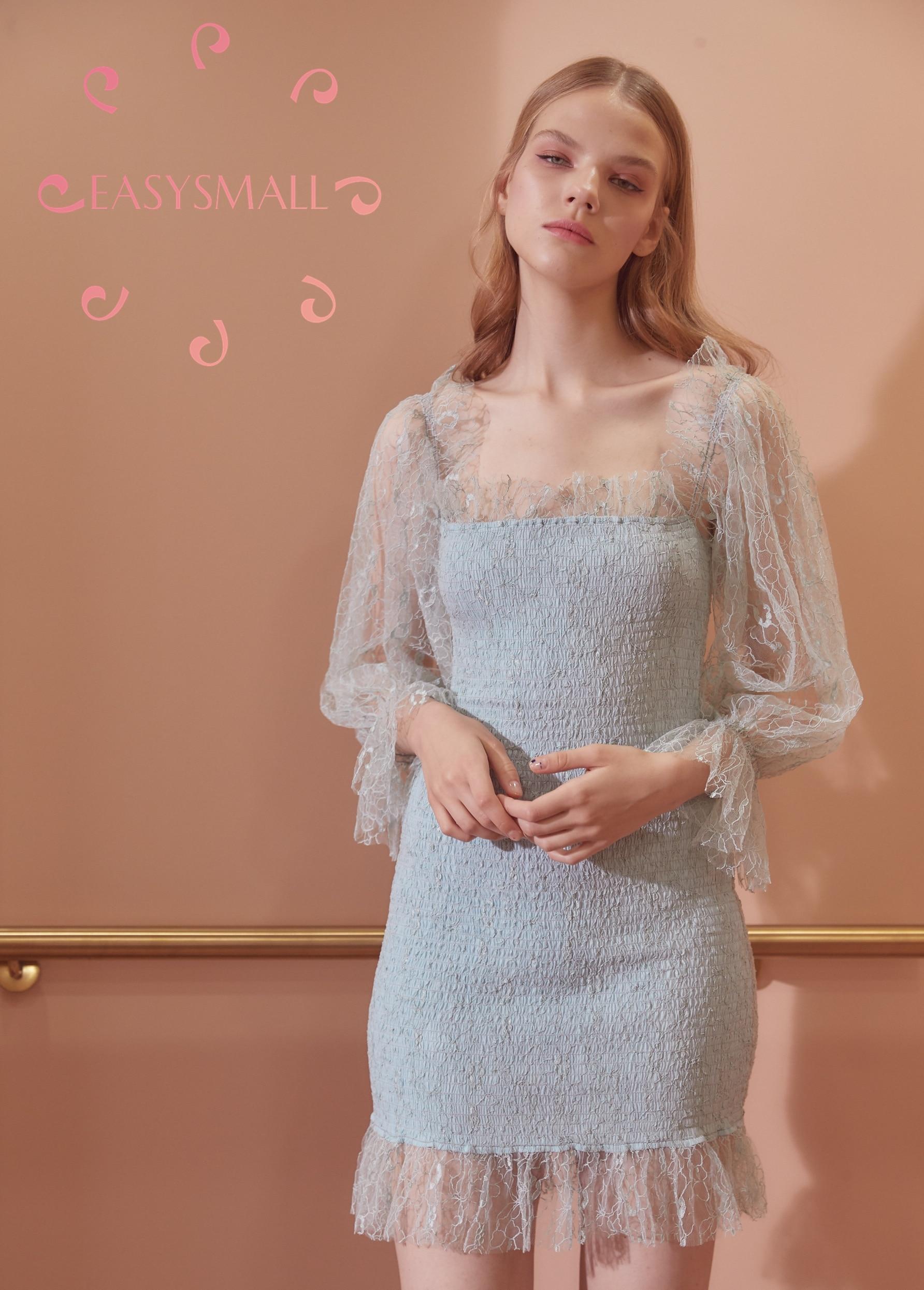 Easysmall para o amor limão vestido feminino moda verão sexy plus size high end cosplay festa à noite vestidos de cintura alta