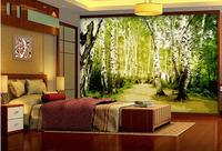 3d Customized Wallpaper Wall 3d Wallpaper White Birch Decoration Painting Mural 3d Wallpaper 3d Nature Wallpapers