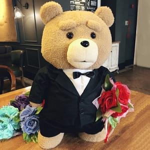 Image 1 - Плюшевый мишка из фильма «она» 45 см, плюшевые игрушки в костюме для мальчиков, мягкие куклы с плюшевыми животными Теда, подарок для невесты хорошего качества в платье