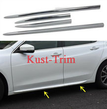 FIT For 2016- 2018 Acura TLX ABS Side Skirt Body Guard Molding Trim Cover 4PCS