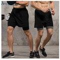 Anyfashion шорты для Бега 2 в 1 Мужские Шорты для Бега с внутри сжатия лайкра боксер Фитнес Спортивные шорты мужские