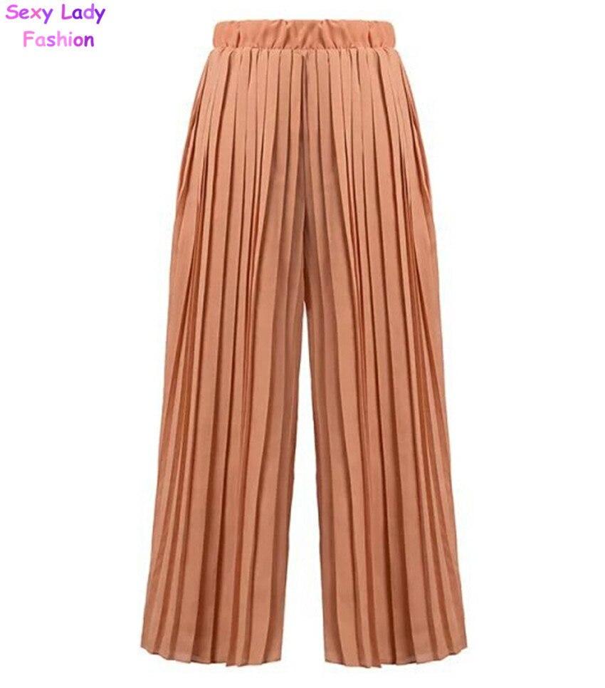 Elegant Bimba Women Long Flaired Palazzo Pleated Skirt Style Maroon Pants