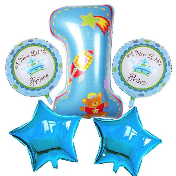Birthday Balloon Set. Baby Shower, 1st Boys Girls Birthday Decoration Party Ball
