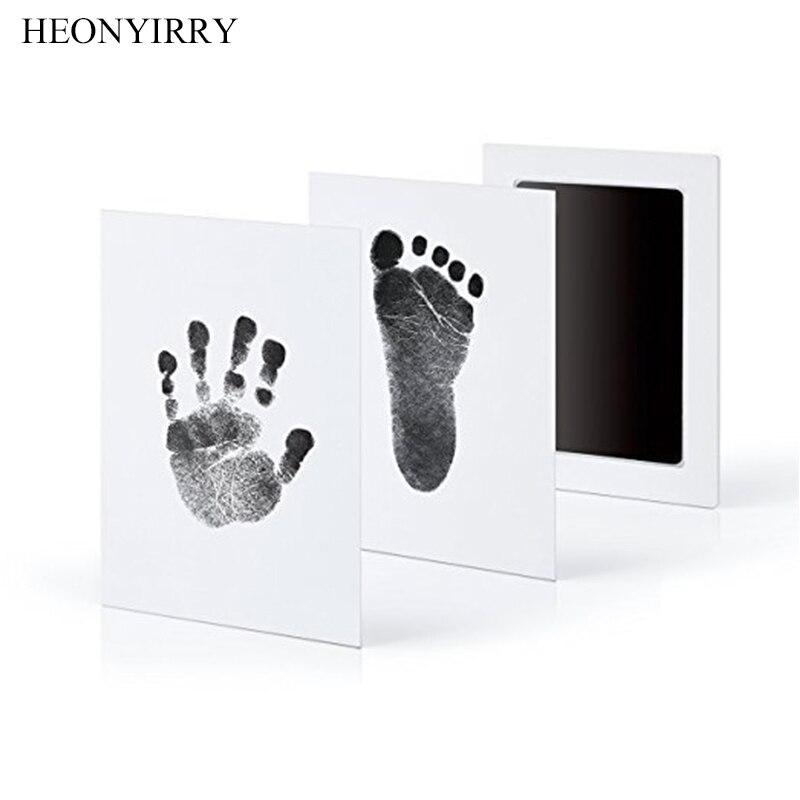 Baby Care нетоксичный ребенка Handprint след отпечаток комплект Детские сувениры литья новорожденных штемпельная подушка для отпечатка ноги для гл...