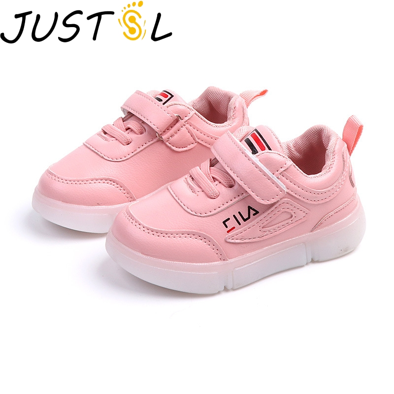 JUSTSL 2018 autumn new children s light shoes LED boys girls fashion sneakers  kids casual flat sport shoes size 21 30-in Sneakers from Mother   Kids on  ... 5cb61b5adb31