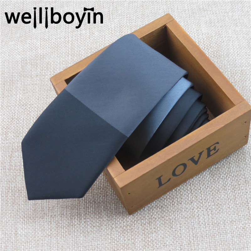 Men Slim Ties Grey Black Patchwork Skinny Tie 5cm Necktie Christmas Gifts For Men Gravata Corbatas Mens Accessories 2016