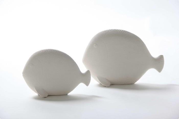 Simple european brief modern ceramic dollarfish scrub decoration home furniture soft accessories
