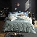 Solid color Egyptian cotton Luxury comforter sets linens pillowcase Bedding Set 4pcs King Queen Size beddingoutlet
