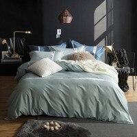 Solide couleur coton Égyptien De Luxe douillette définit draps taie d'oreiller Ensemble de Literie 4 pcs Roi Reine Taille beddingoutlet