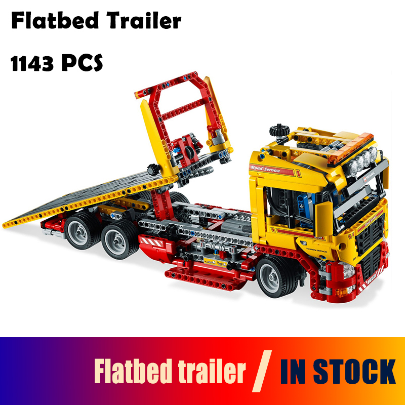 Compatible with Lego Technic 8190 model 20021 1143pcs Flatbed trailer building blocks Figure bricks toys for children compatible with lego ninjagoes 70596 06039 blocks ninjago figure samurai x cave chaos toys for children building blocks