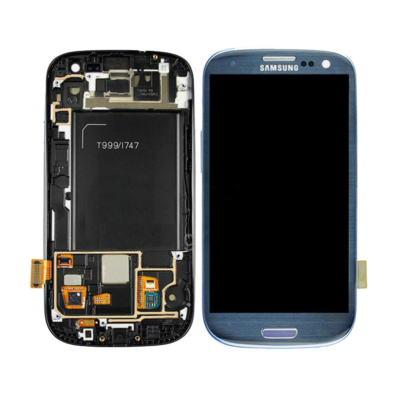 ФОТО For Samsung Galaxy S3 T999 i747 LCD Touch Digitizer Screen + Frame Assembly