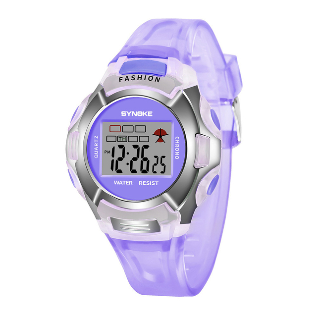 2018 Fashion Waterproof Sports Kids Boy Children Watches Digital LED Alarm Date