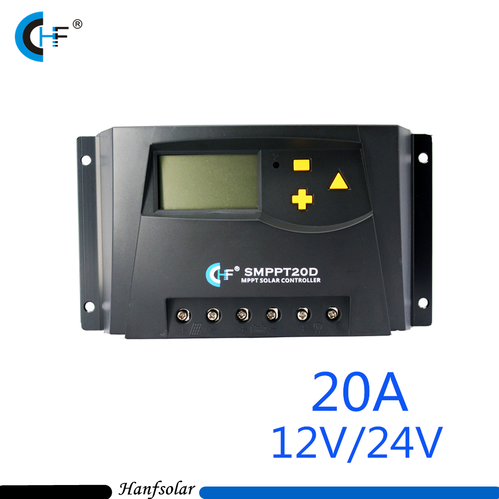 2pcs/lot LCD Display 20A 12V/24V MPPT Solar Panel Battery Regulator Charge Controller 4-stagel Charger Controller Regulator 20a 12 24v solar regulator with remote meter for duo battery charging