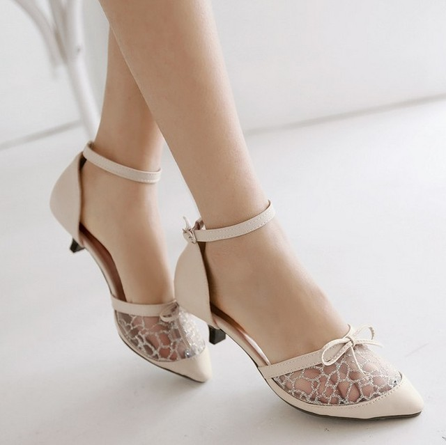 Fashion Shoes Women Low Heels Sandals Summer PU Rubber Pumps Casual Woman Party Office Wedding