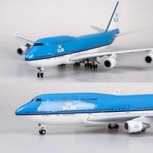 7f3b2bd237aff2 1/157 Scale 47CM Airplane Boeing B747 KLM Royal Dutch Airlines Model W  Light &