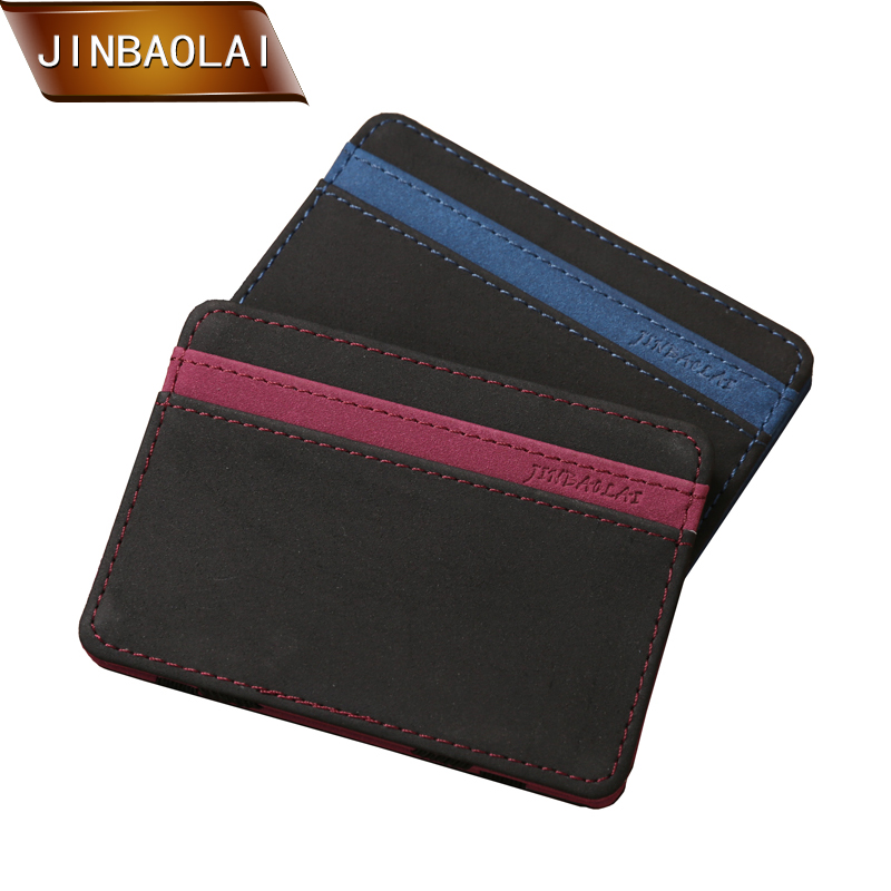 JINBAOLAI Fashion Men Pu Leather Magic Wallet Slim Magic Money Clip Credit Card Case Cash Holder Magic Flip Wallet Mini Purse hot sale jinbaolai bifold wallet men leather credit id card holder purse mini wallet fashion brand quality purse wallet for men