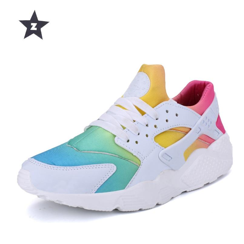 45 Green Rainbow Taille Respirant Tendance Danse White Z De Marche black Casual Mode Chaussures Tennis rainbow Sport Black Sneakers 36 Femmes qSwZF67U